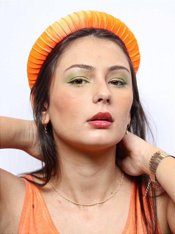 Tiara Cetim Viola Tangerina