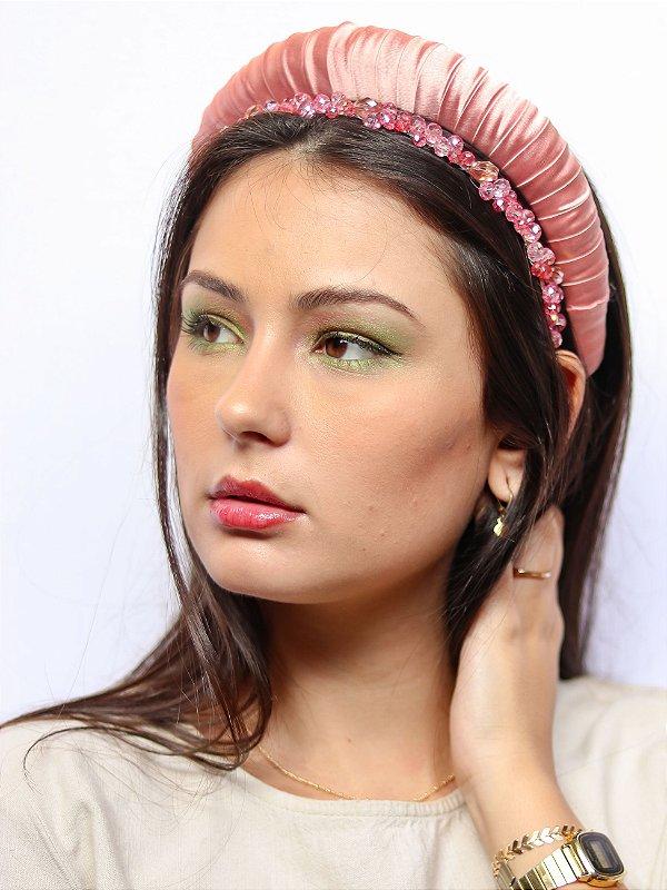 Tiara Cetim Viola Blossom