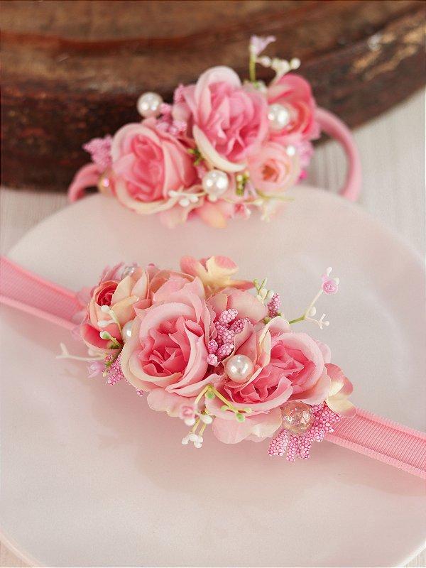 Headband Flores Infantil Luna