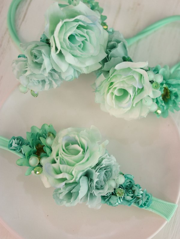 Headband Flores Infantil Piscina