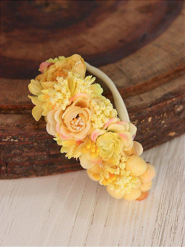 Headband Flores Infantil Solare