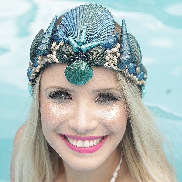 Coroa de Conchas Sereia Aquata