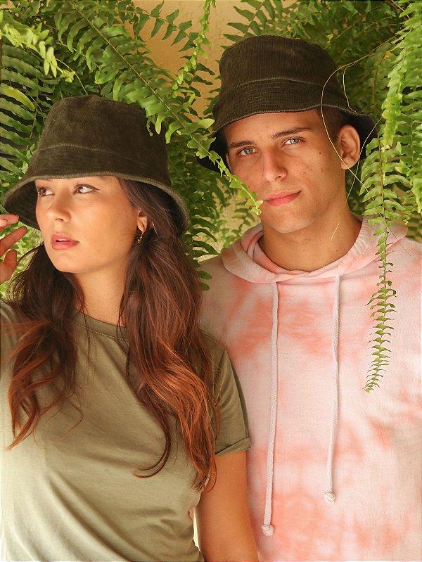 Bucket Hat Veludo Cotelê Verde Musgo