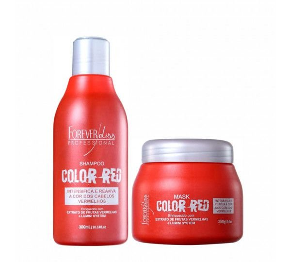 KIT SHAMPOO E MÁSCARA COLOR RED FOREVER LISS
