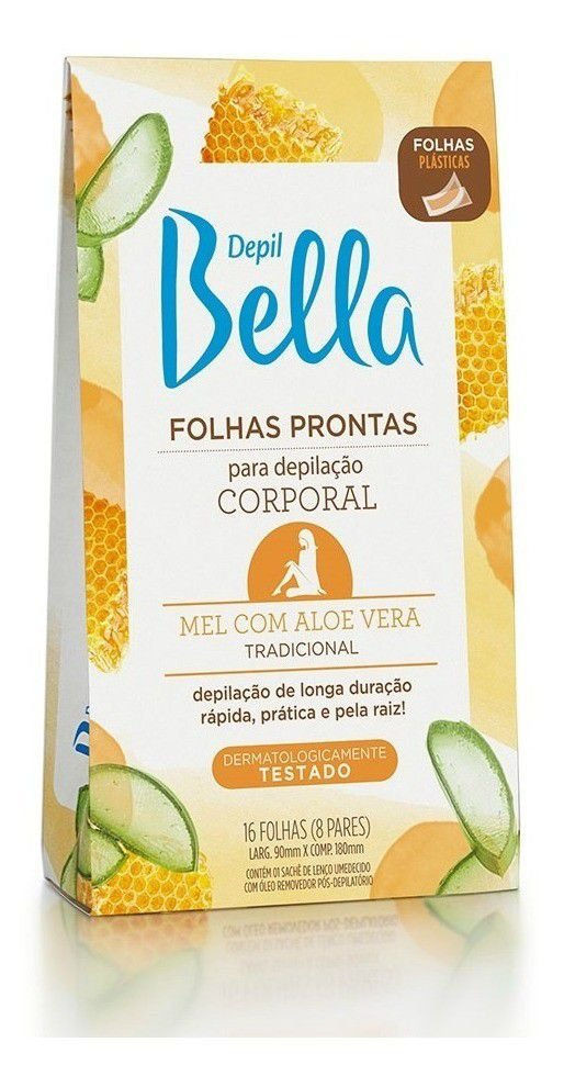 CERA DEPIL BELLA FOLHAS PRONTAS FACIAL