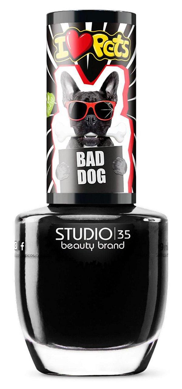 ESMALTE STUDIO 35 I LOVE PETS COR/ BAD DOG