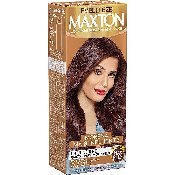TINTA MAXTON MORENA MAIS INFLUENTE- COR CHOCOLATE ROSÉ 6.76