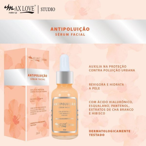 SERUM FACIAL ANTIPOLUIÇÃO MAX LOVE
