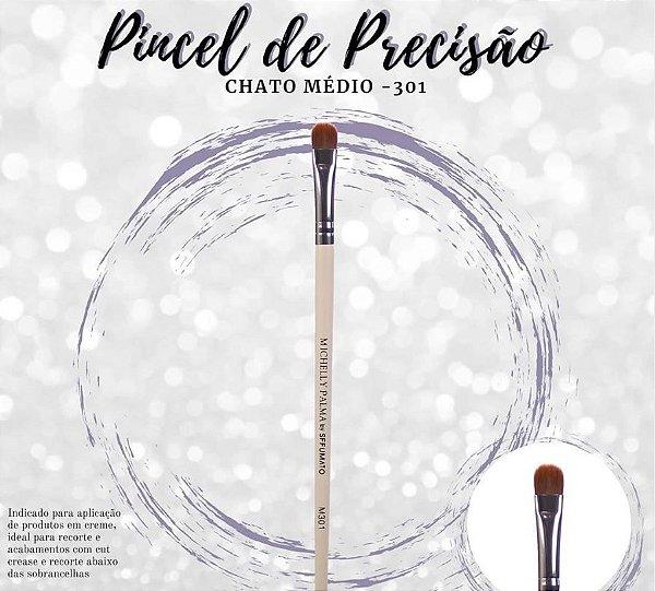 PINCEL DE PRECISÃO CHATO PEQUENO  M301 MICHELLY PALMA