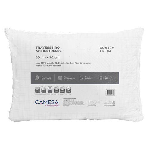 Travesseiro Antiestresse Camesa Suporte Firme 50 Cm X 70 Cm