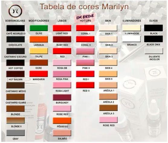Pigmento para Micropigmentação Marylin 15ml Light Red
