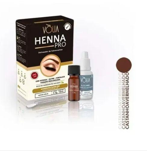 Henna Volia Para Sobrancelhas Profissional 2,5g