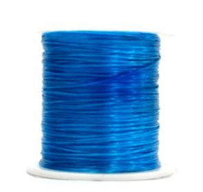 Cordão Fio Elástico Fitilho Com Elastano 50metros Trança Box Braids Decoração de Cabelo Azul