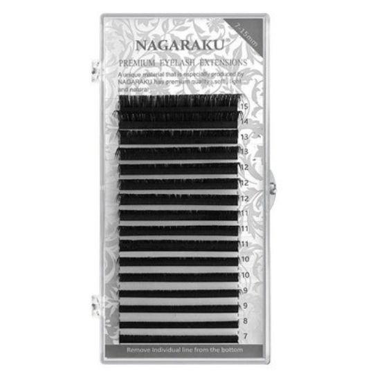 Nagaraku Extensão De Cílios Extensão Flexível Mink Profissional Curvatura C 0.15C