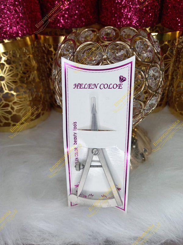 Especímetro De Aço Inoxidável Para Sobrancelhas Helen Color
