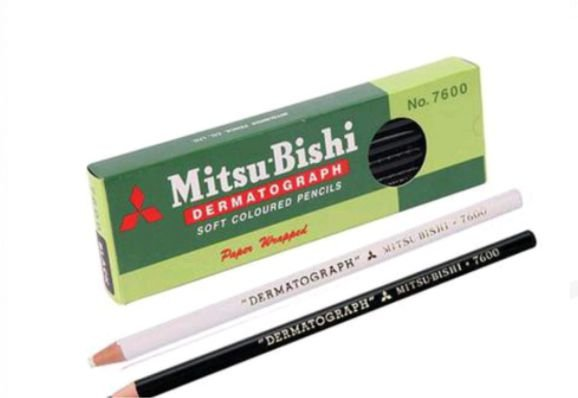 Lápis Dermatografico Mitsubishi 7600 Preto