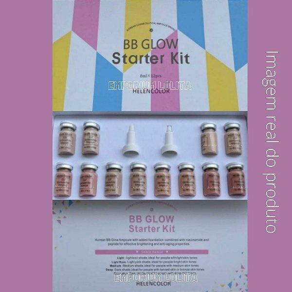 Kit Bb Glow Microagulhamento Micropigmentação Pigmentos 2.0 Hellen Collor 12 Ampolas 8ml