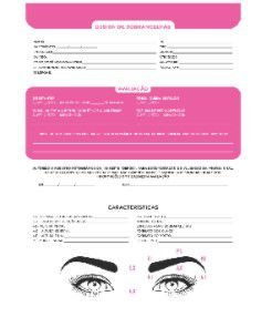 Ficha de Anamnese Design de Sobrancelha Sobelle 100 folhas