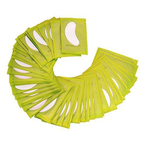 Pacote 10 pares de Protetor Adesivo de Cílios para Alongamento