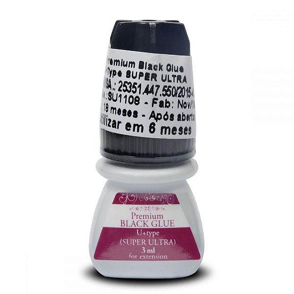 Cola Alongamento Cilios Black Glue Premium Super 3g