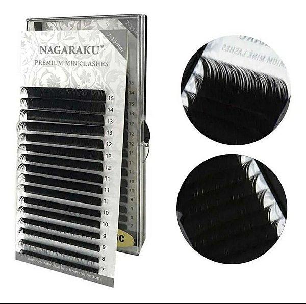 Cílios Nagaraku Premium Mink Curvatura D Mix 0,20D