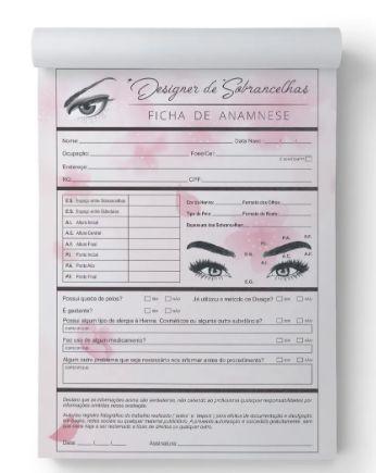 Ficha de Cuidados  Design de Sobrancelha