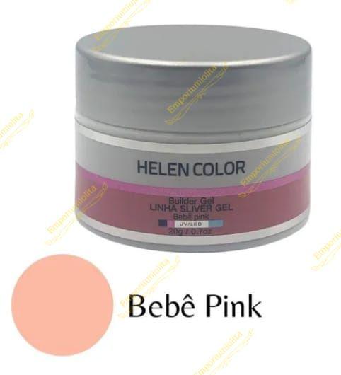 Helen Color - Builder Gel - Linha Silver Gel - Bebê Pink 35g