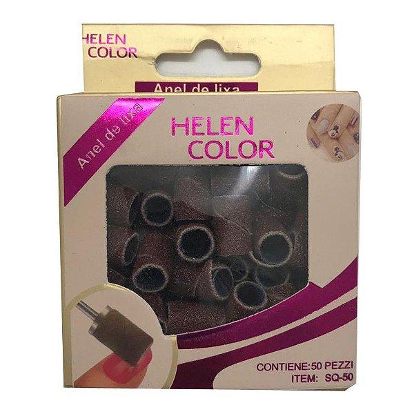 Helen Color - Anel de lixa - Contém 50 peças