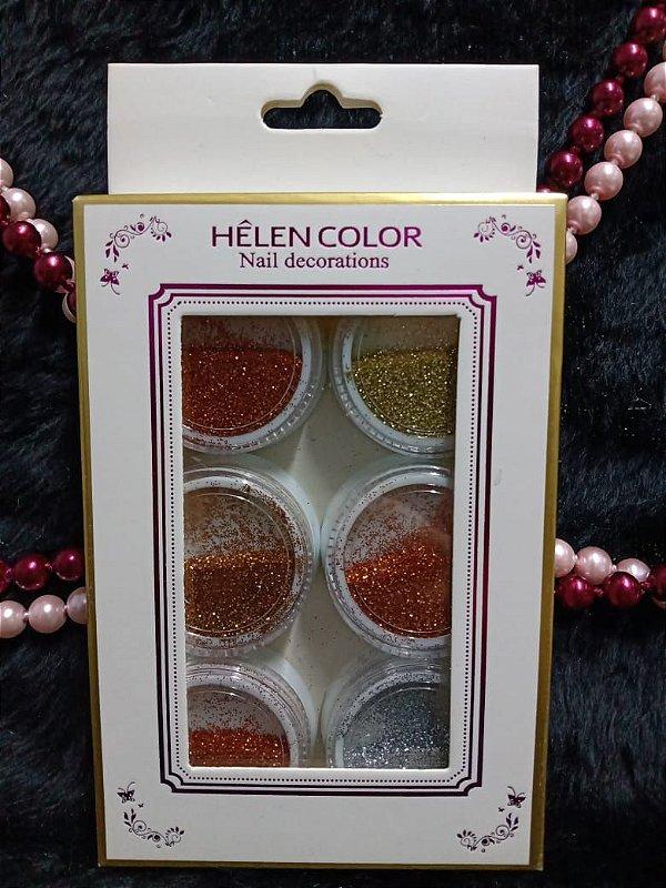 Glitter Flocado -  Decoração -  Encapsulado-  Nail-  Médio Helen Color