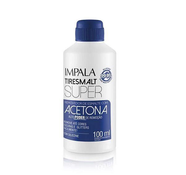 Removedor de Esmalte Impala Tiresmalt Super com Acetona e Silicone 100ml