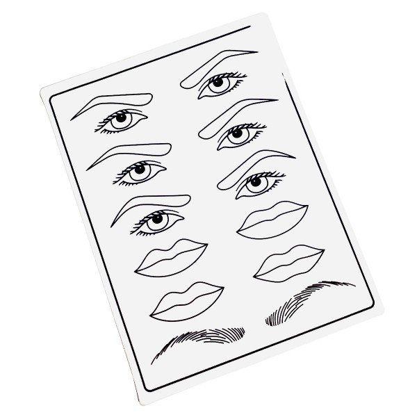 Pele Sintética Treino Sobrancelhas, Micropigmentação e Lábios
