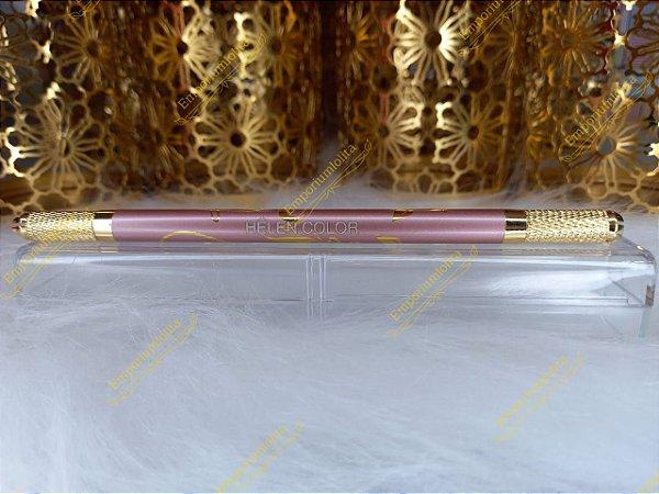 Caneta Tebori Sobrancelhas - Microblanding e Micropigmentação Gold Rosé Luxo