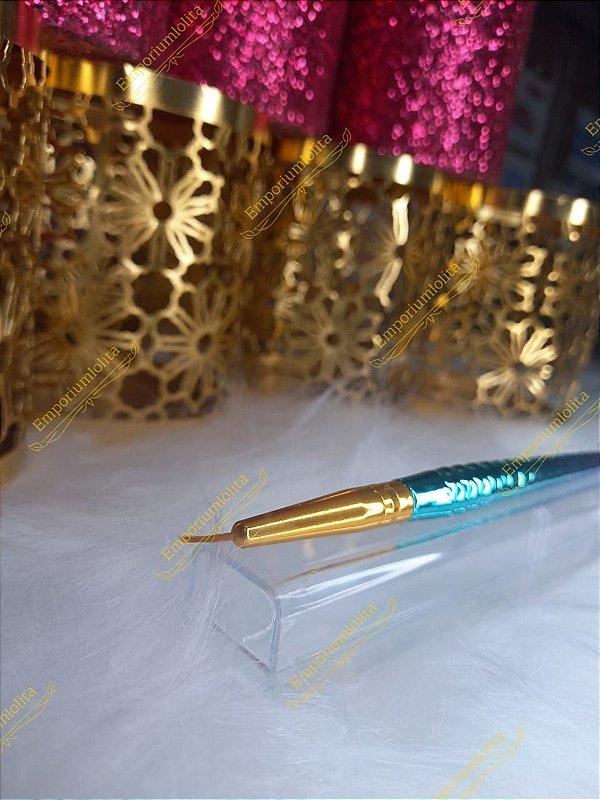 Pincel Sereia Metalizado Para Decoração e Francesinha - Luxo Furtacor