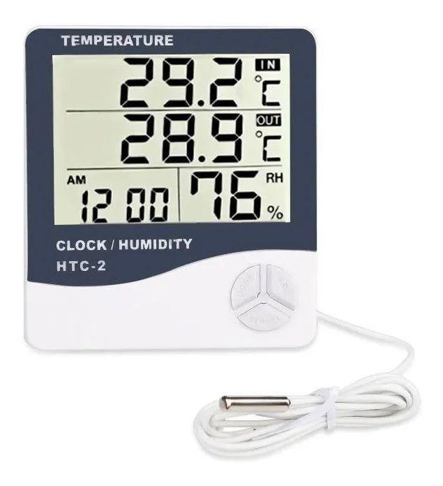 Termo Higrômetro Medidor Umidade Temperatura Sensor Externo