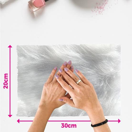 Tapete Lindíssimo Para Manicure Pelúcia - Pelo Longo