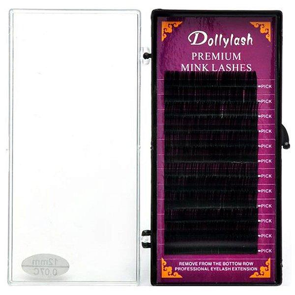 Cílios Dollylash Premium Mink Lashes Curvatura C