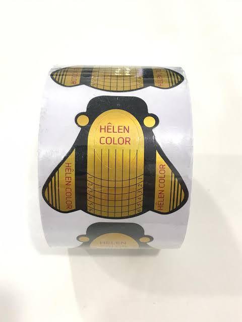 100 Moldes Adesivos para Unhas em Gel Abelha Dourada e Preta