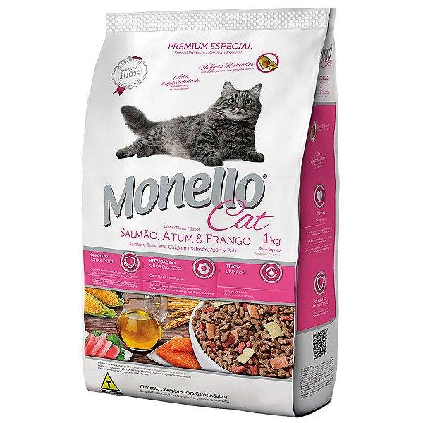 Monello Cat Premium Especial - Salmão, Atum e Frango