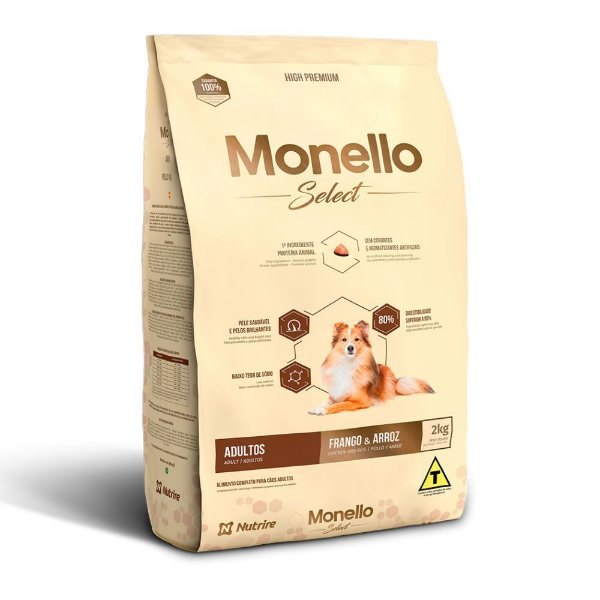 Monello Select Dog - Frango e Arroz