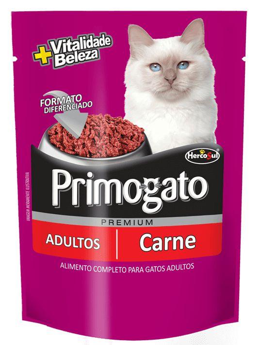 Sachê Primogato Adultos - Carne