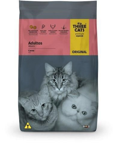 Three Cats Original Adultos Carne