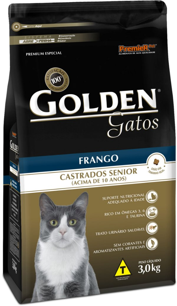 GOLDEN GATOS CASTRADOS SÊNIOR