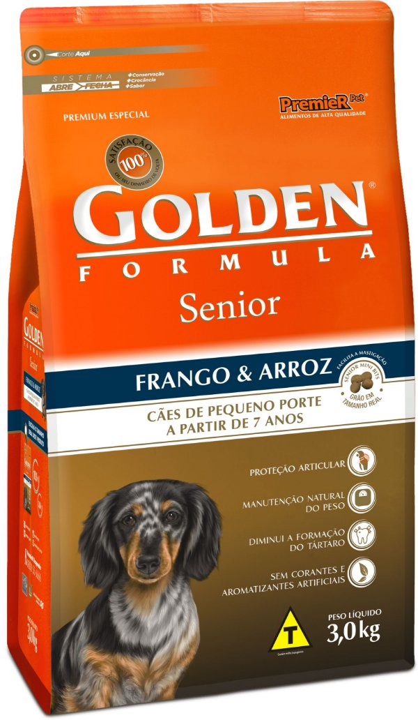 Golden Fórmula Cães Sênior Mini Bits