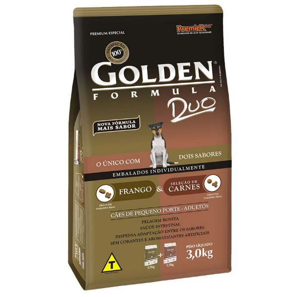 Golden Duo Frango e Carnes Mini Bits 3KG
