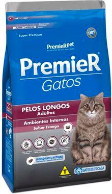 Premier Gatos Adultos Pelos Longos - Frango