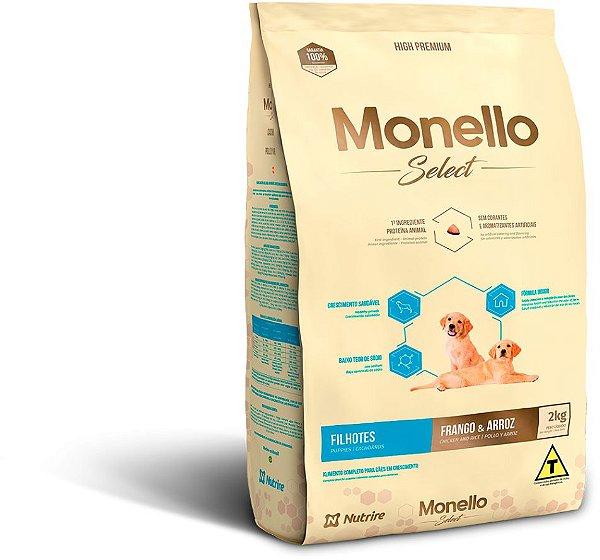 Monello Select Dog Filhotes - Frango e Arroz