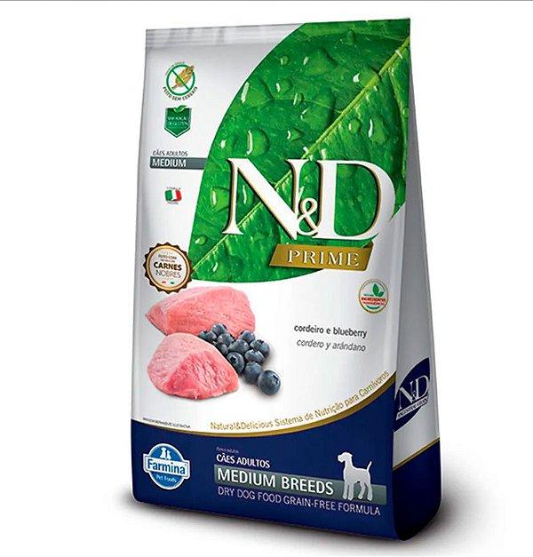 ND Prime Adulto Medium Breeds - Cordeiro e Blueberry