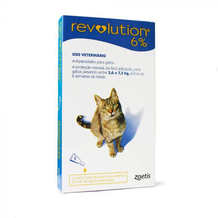Antipulgas e Antiparasitário  Revolution 6% Gatos