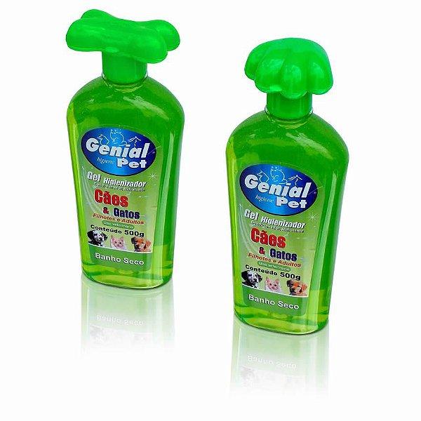 Gel Higienizador Banho Seco Cães e Gatos