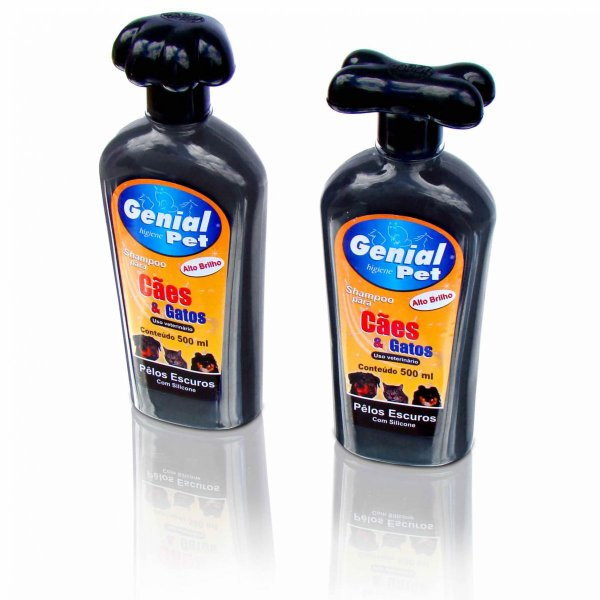 Shampoo Genial Pêlos Escuros Cães e Gatos